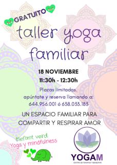 Yoga familia - taller gratuito